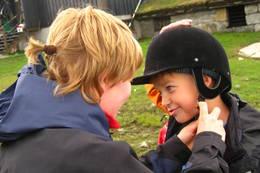 Klar for riding ved Sandhaug - Foto: Den Norske Turistforening
