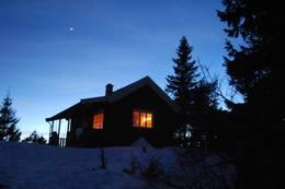 Hovdehytta på natten - Foto: Jannetje Kolijn