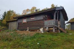 Stallen på Grytbakksetra, med soverom og toalettløsning - Foto: