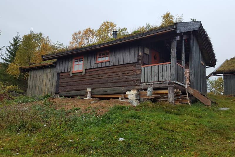 Stallen på Grytbakksetra, med soverom og toalettløsning