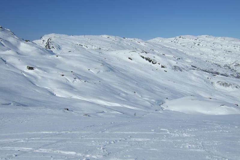 Utsikt fra skitrekket