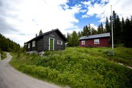 Dette er tunet på Sommerseter  - Foto: Telemark Turistforening