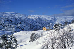 Vinter i Kalvedalen -  Foto: Målfrid Hatteland