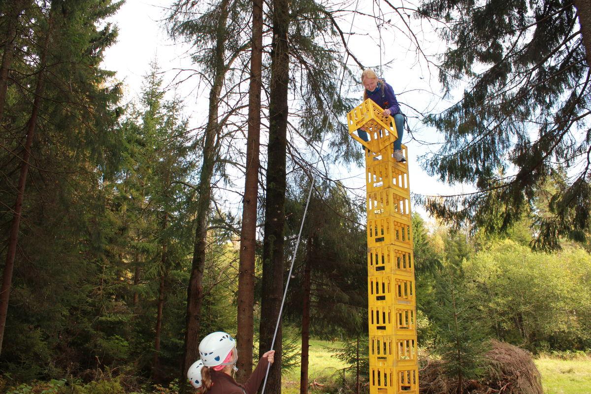 Kassestabling utfordrer balanse, koordinasjon og høydeskrekken.