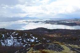 Utsikt sørover fra toppen - Foto: Kjell Fredriksen