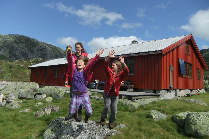 Nilsebu er et populært sted for barnefamilier i sommerferien.