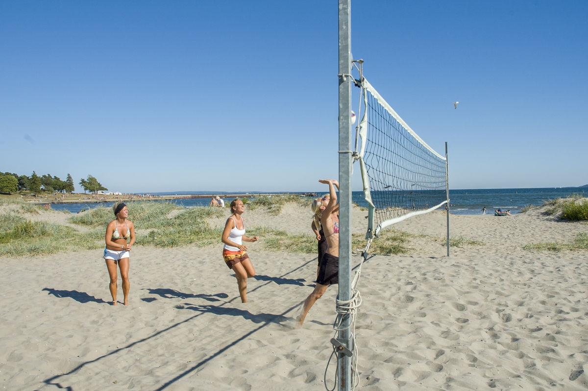 Sandvolleyball på Ringshaug