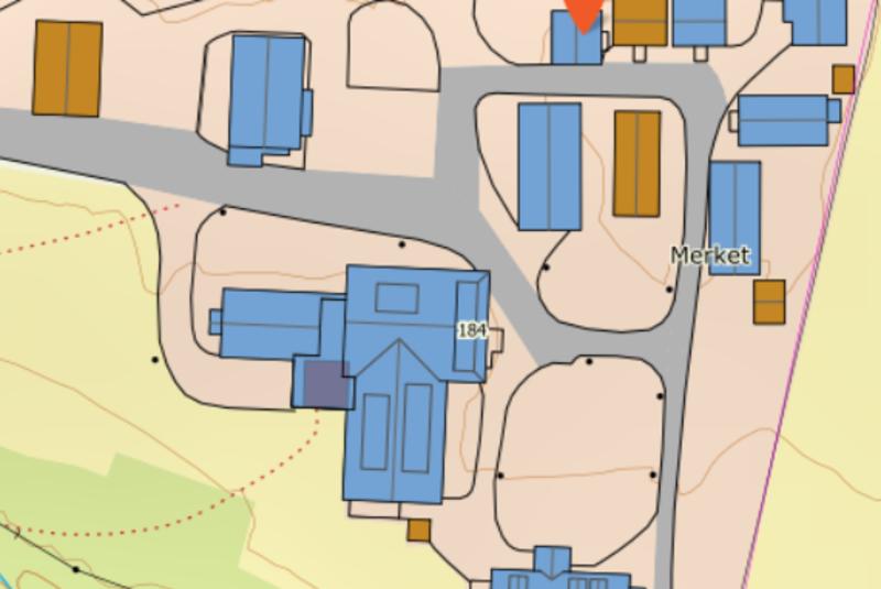DNT hytte situasjonsplan