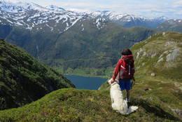 Utsikt når du kjem på ryggen - Foto: Anne Cecilie Kapstad
