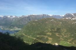 Utsikt mot Kjøsnesfjordbrua -  Foto: Anne Cecilie Kapstad