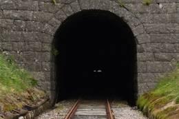 Tunell ut fra Flekkefjord stasjon - Foto: Ukjent