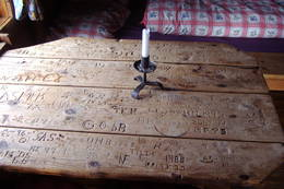 Historisk bord - Foto: Kongsberg og Omegns Turistforening