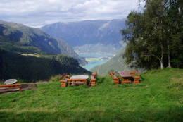 Praktfull utsikt fra Fuglesteg -  Foto: Luster Turlag