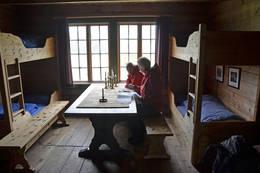 Kvanndalen er koselig innvendig - Foto: Odd Inge Worsøe