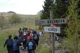 På vei mot Dalsnuten - Foto: Anne Katrine Lycke