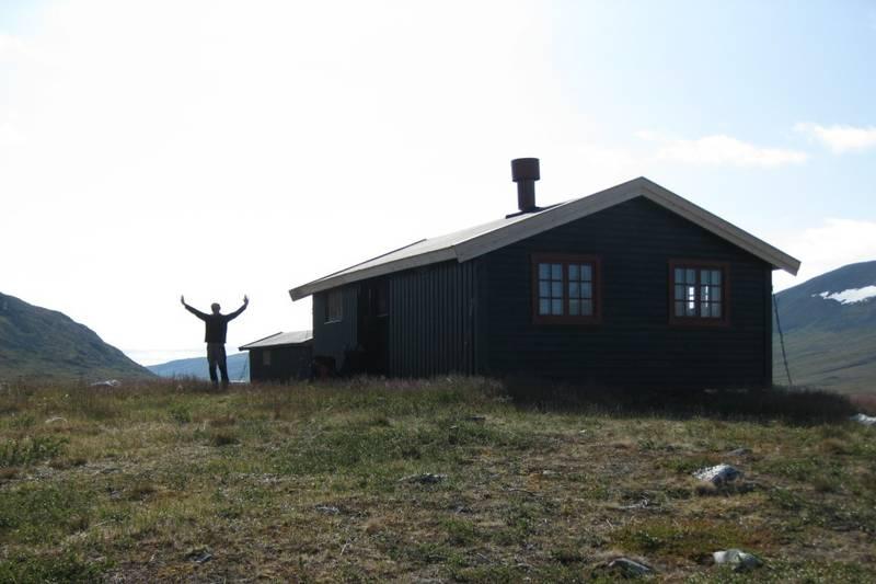 Klar for avgang fra Dærtahytta i Indre Troms