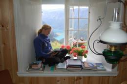 Utiskten fra vinduskarmen på Fuglesteg fjerner fort fokuset fra lesingen - Foto: Merete Habberstad