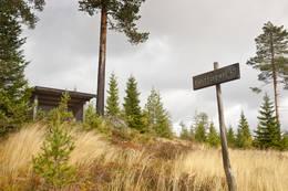 Gapahuk langs ruta. - Foto: Sindre Thoresen Lønnes/Den Norske Turistforening