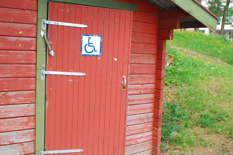 HC-toalett ved turveien rett før Veritas.