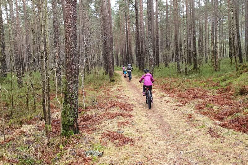 Deler av runden egner seg godt til sykkel