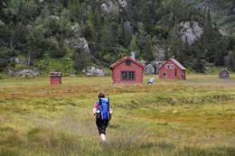 Kvanndalshytta ligger i et fint stølsområde - Foto: Odd Inge Worsøe