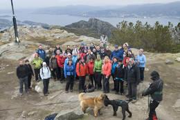 Tritur med Bergen Turlag til Lyderhorn, Bergens vestligste byfjell. - Foto: Helge Sunde