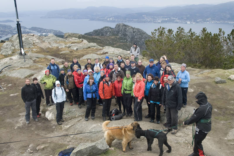 Tritur med Bergen Turlag til Lyderhorn, Bergens vestligste byfjell.