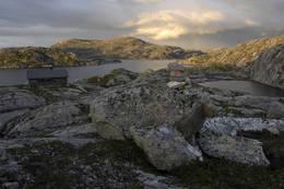 Flott landskap rundt hytta - Foto: Ukjent