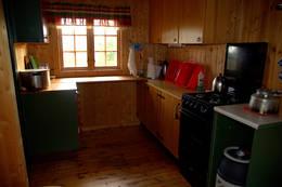 Kjøkkenkrok på Kvitfjellhytta - Foto: