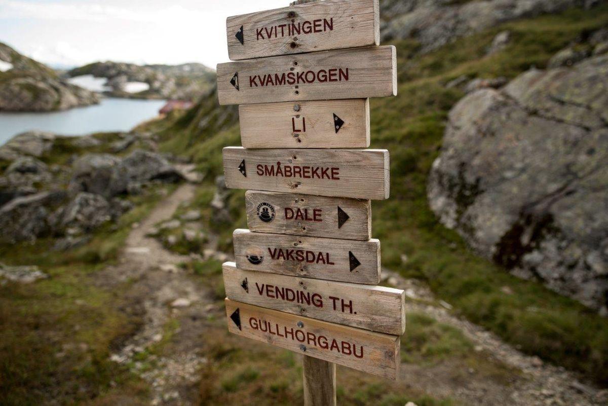 Skilt ved Høgabu