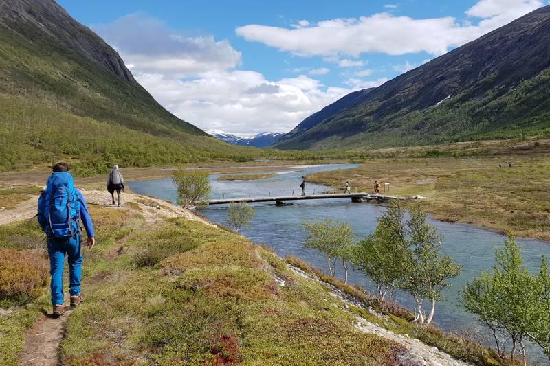 Brua over elva i Grøvudalen, Hanne Wollan