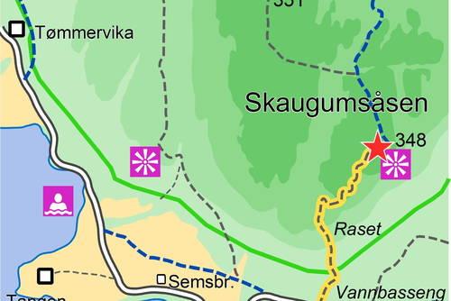 skaugumsåsen kart Skaugumsåsen   Askers mest populære utsiktspunkt   Tur   UT.no skaugumsåsen kart