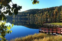 Utsikt fra grillplassen - Foto: Ukjent