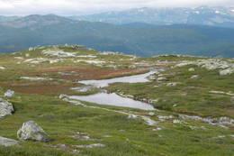 Utsikt frå Tjønnefjell -  Foto: Sven Lie