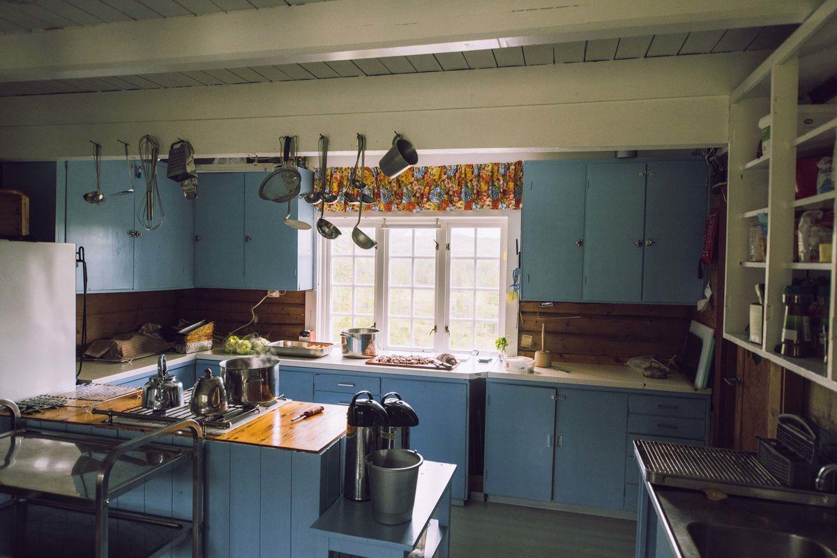 Kjøkkenet på Schulzhytta.