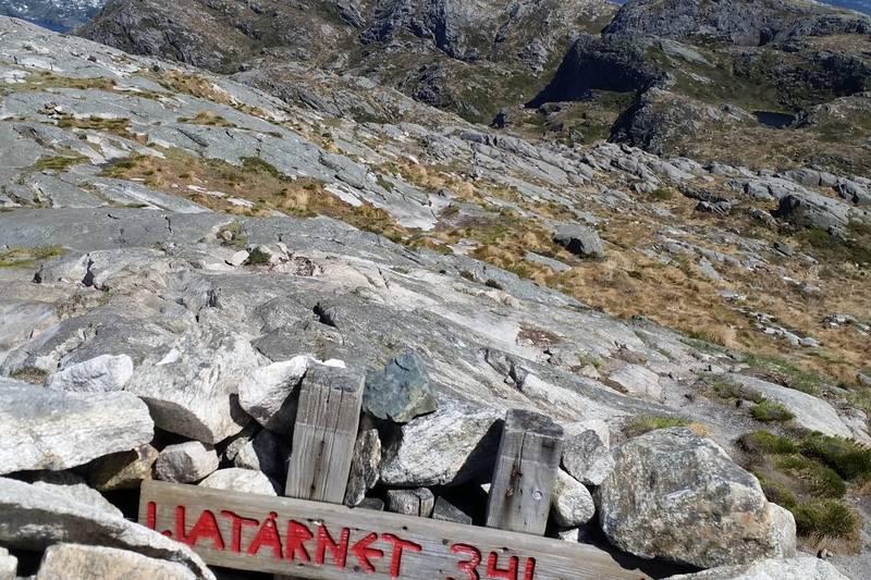 På toppen av Liatårnet. 341 moh