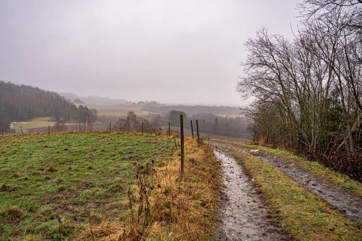 Utsikt til Asaklandet fra Gudleivs vei