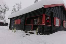 Vinterhytte i Romeriksåsene - Foto: Jan Ove Nicolaisen