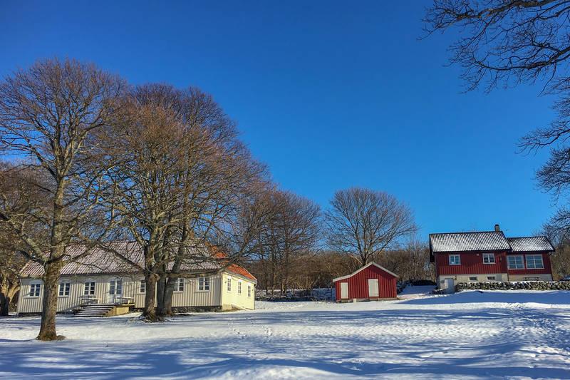 Snø på Øitangen.