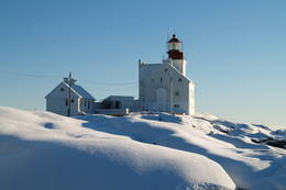 Vinter på Lyngør fyr - Foto: Jens Ragnar Larsen