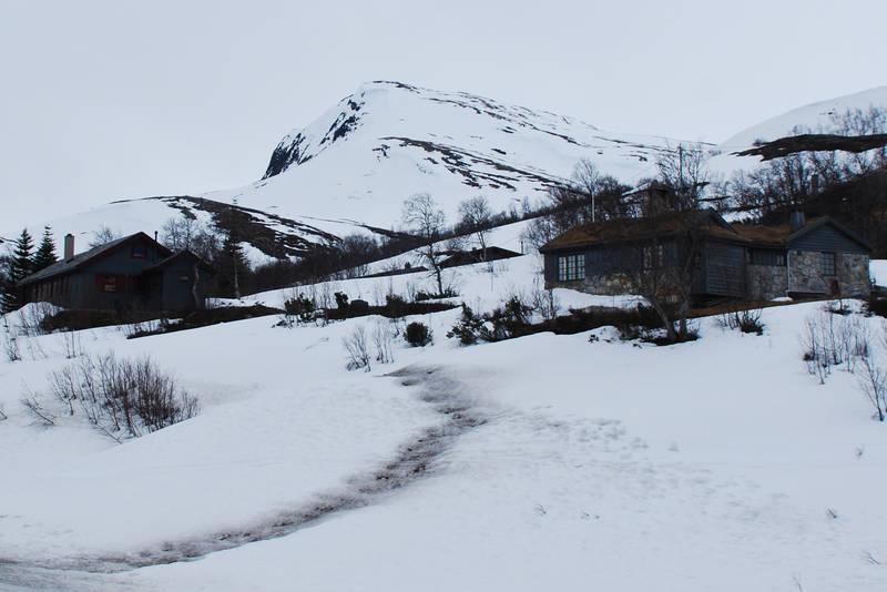 Toppen sett fra starten av skiløypa inn Bjørdalen