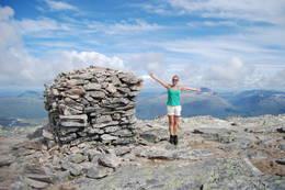 Ved toppvarden på Snota -  Foto: Asgeir Våg