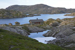 Hytta ved Krossvatn -  Foto: Odd Inge Worsøe