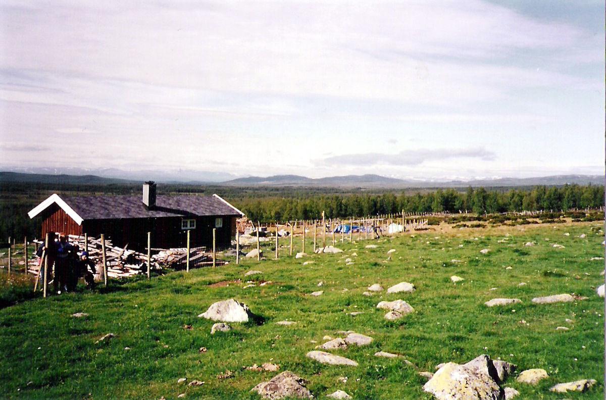 Haldorbu og området rundt.