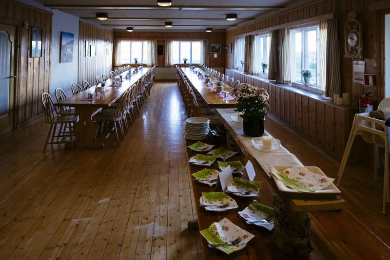 Spisesalen på Nedalshytta.
