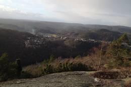 Utsikt mot Strai og Gangdalen - Foto: Ukjent