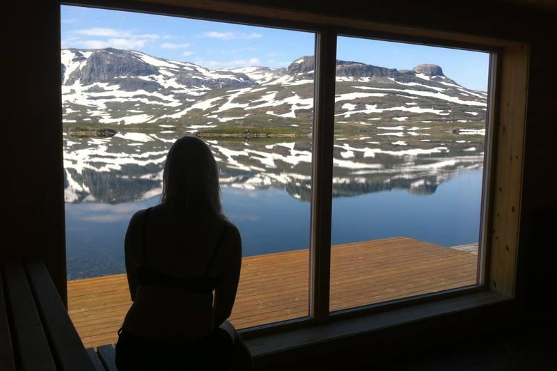 Utsikt fra badstuen