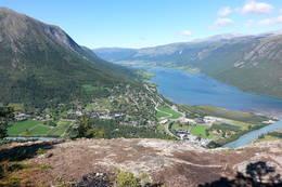 Utsikt frå Nonshaugen - Foto: Åshild Myhre Amundsen