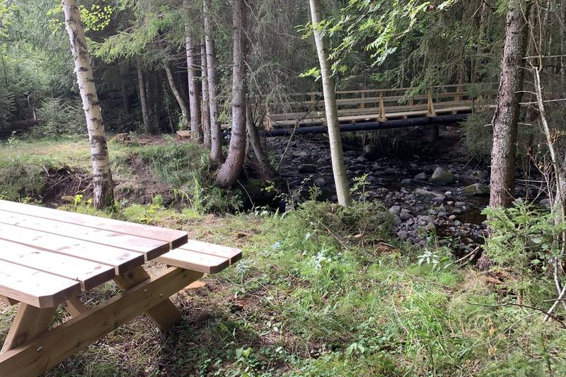 Vi krysser elva Lageråa to ganger - derav navnet Lageråarunden