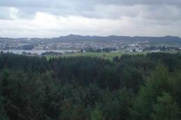 Utsikt østover mot Haugesund - Foto: Torfinn Dommersnes